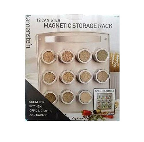 Kamenstein 12 Canister Magnetic Storage Rack Wall Mountable For Kitchen, Office, Crafts & Garage Kamenstein http://www.amazon.com/dp/B00I4ZK9AY/ref=cm_sw_r_pi_dp_dZmTwb0H8XXE9