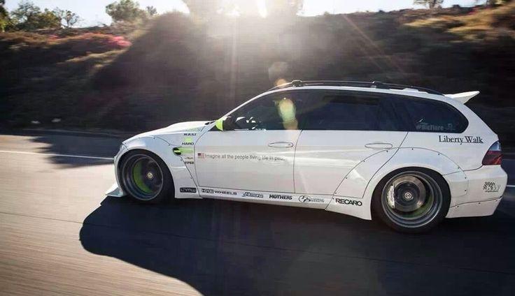 Insane Liberty Walk BMW wagon.  I like - http://extreme-modified.com/