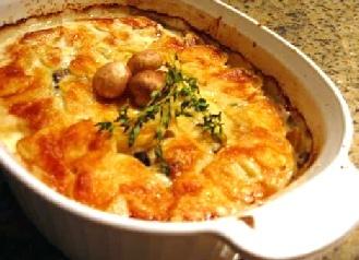 potato mushrooms gratin xy01 | Fooooooood! | Pinterest