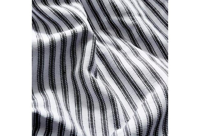 Black Tick Duvet Cover, White