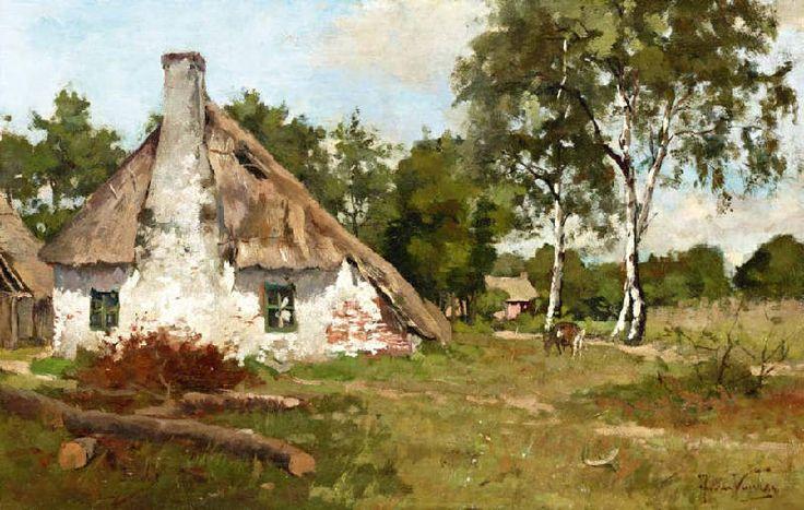Jan van Vuuren (1871-1941). Locomotiefhuisje op de Veluwe.