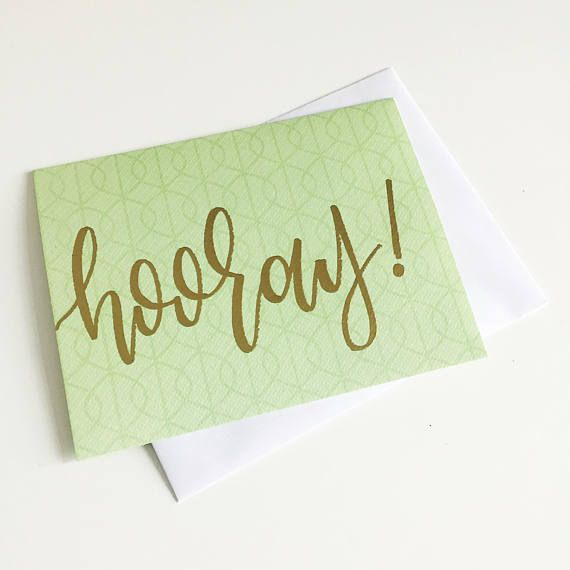 Encouragement Cards  Gold Embossed Cards  Way to go  Hooray