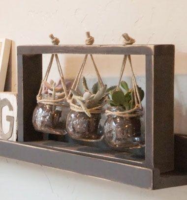 DIY Succulent frame - wooden centerpiece with plants (free plan) // Függő asztali virágtartó (pozsgásokhoz) fából - barkácsolás // Mindy - craft tutorial collection // #crafts #DIY #craftTutorial #tutorial #DIYFurniture