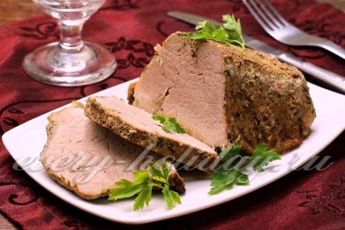 Свиная лопатка запеченная в горчице