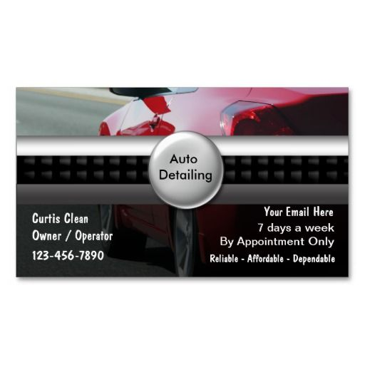 78 Best Images About Auto Detailing Business Cards On Pinterest Cars Limo And Business Card