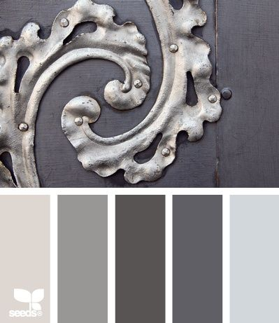Cool grays and silvers