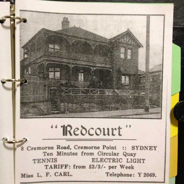 Not the usual place to stay when traveling to Sydney, but a unique piece of Mosman's history