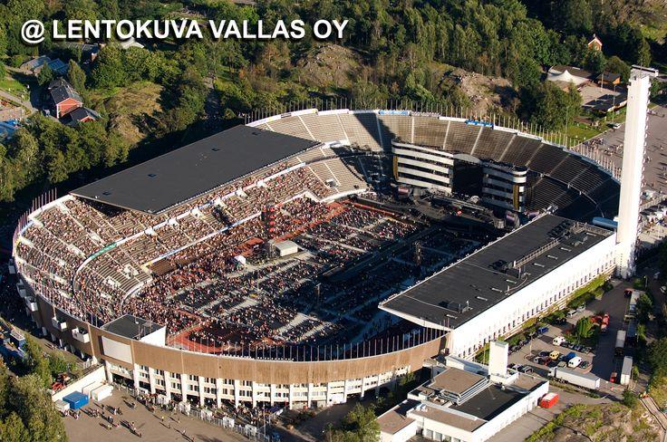 Helsinki, Olympiastadion, Rolling Stones -konsertti Ilmakuva: Lentokuva Vallas Oy