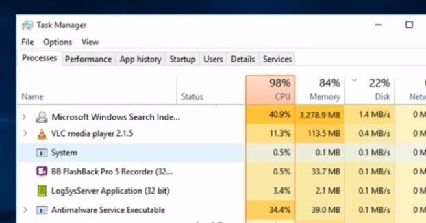 Solved Microsoft Windows Search Indexer High Cpu Usage Windows 10