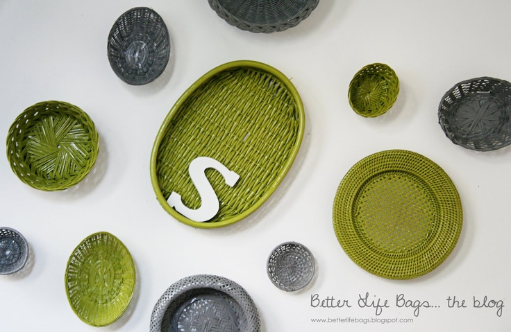 Basket Design {Painted Baskets with Kryon Dual Spray Paint}