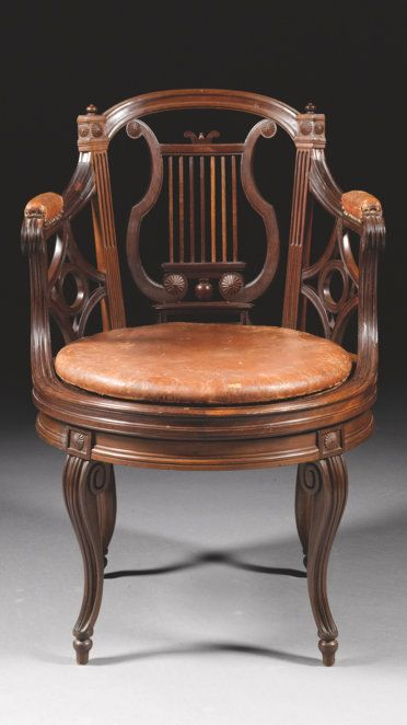 A carved mahogany fauteuil de bureau stamped G. Jacob Louis XVI, circa 1790, SOLD. 75,650 GBP