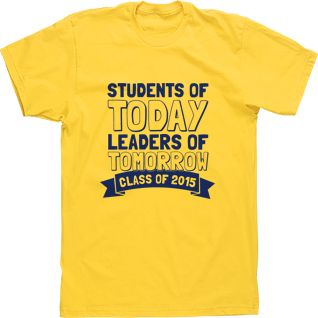 Students of Today Leaders of Tomorrow High School Custom Tees Stuco T-shirts Student Council Banner
