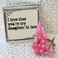 This is how I feel about all of my Daughters-in-Law. My sons fell in love with beautiful, Christian girls. We are truly blessed!
