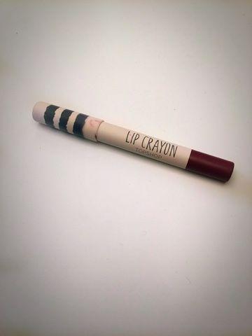 "What Georgia Did Next: Topshop Lip Crayon in ""Suspect"":"
