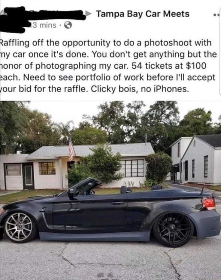 Which one of you did this sense of entitlement raffle