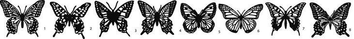 papillons papier découpé