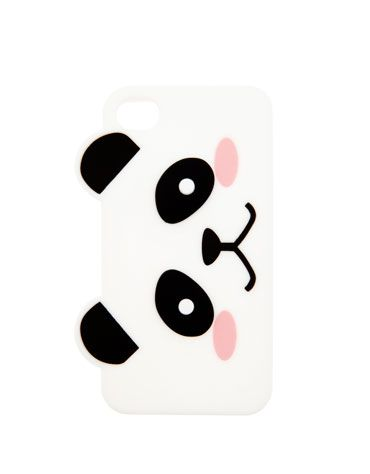 Panda soft phone case #BershkaAccessories #cute