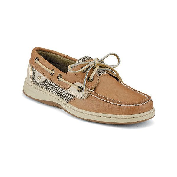Women's Sperry Top-Sider Bluefish 2-Eye - Linen/Oat Casual ($90) ❤ liked on Polyvore featuring shoes, loafers, casual, casual shoes, tan, linen shoes, sperry footwear, sperry, topsiders shoes and sperry topsider
