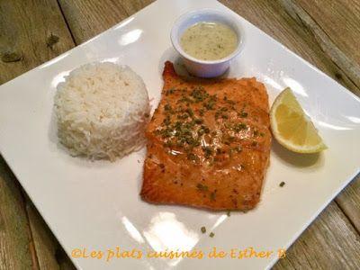 Les plats cuisinés de Esther B: Saumon glacé sur planche de cèdre