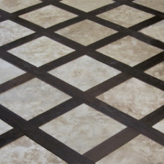 Wood Floor With Tile Inlay For Entry Way Where The Heart Is Flooring Floors Kitchen