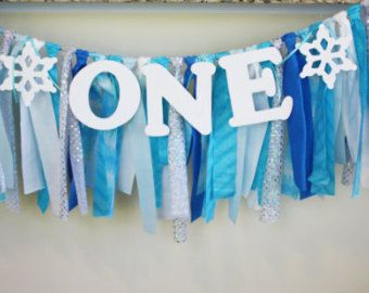 Winter Wonderland Highchair Banner, Bumble the Abominable Snowman Birthday banner, 1st Birthday boy, Winter Onederland, Frozen Party