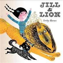Jill & Lion by Lesley Barnes. Circus, animals and books :) Lovely stylised black and colour ink drawings