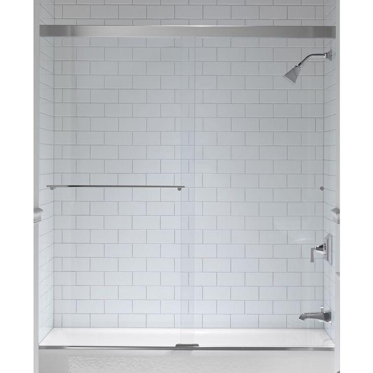 KOHLER Revel 59.625-in W x 62-in H Frameless Bathtub Door