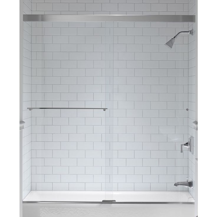 kohler revel 59625in w x 62in h frameless bathtub door