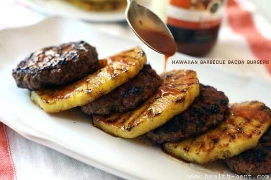Hawaiian Barbecue Bacon Burgers   RECIPES   Pinterest