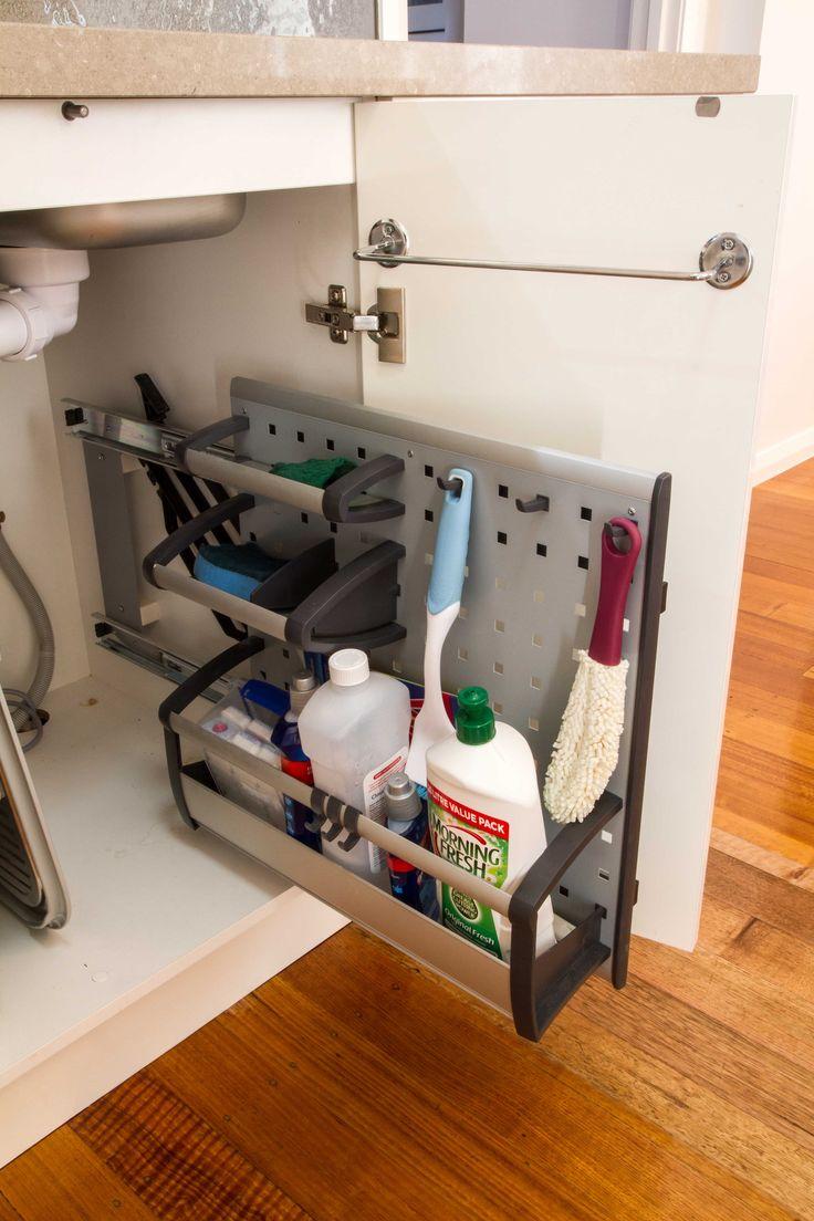 Under sink storage. www.thekitchendesigncentre.com.au