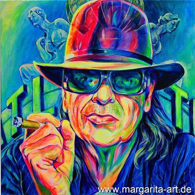 Margarita K. – Malerei, Grafik, Design: Udo Lindenberg - Portrait - Original Gemälde auf L...