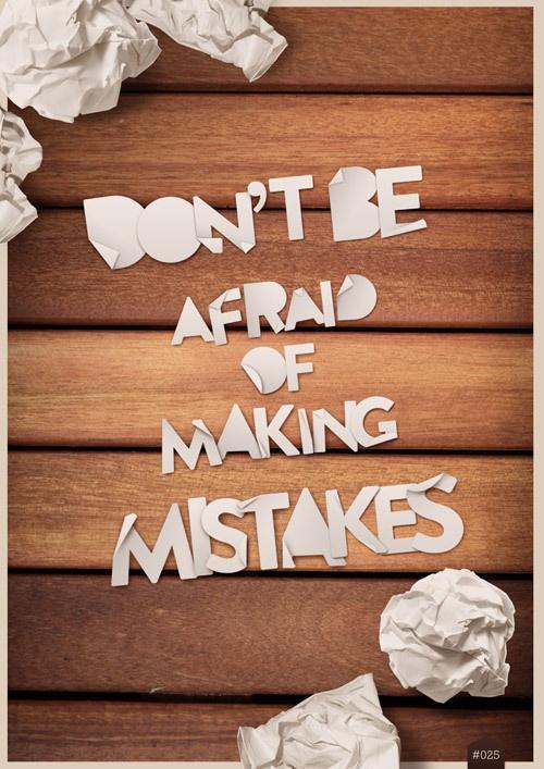 No tengas miedo de los errores... es parte del proceso!! #frases #quotes
