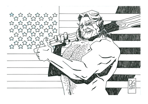 """Hack Saw Jim Duggan"" by  Joseph DellaGatta"