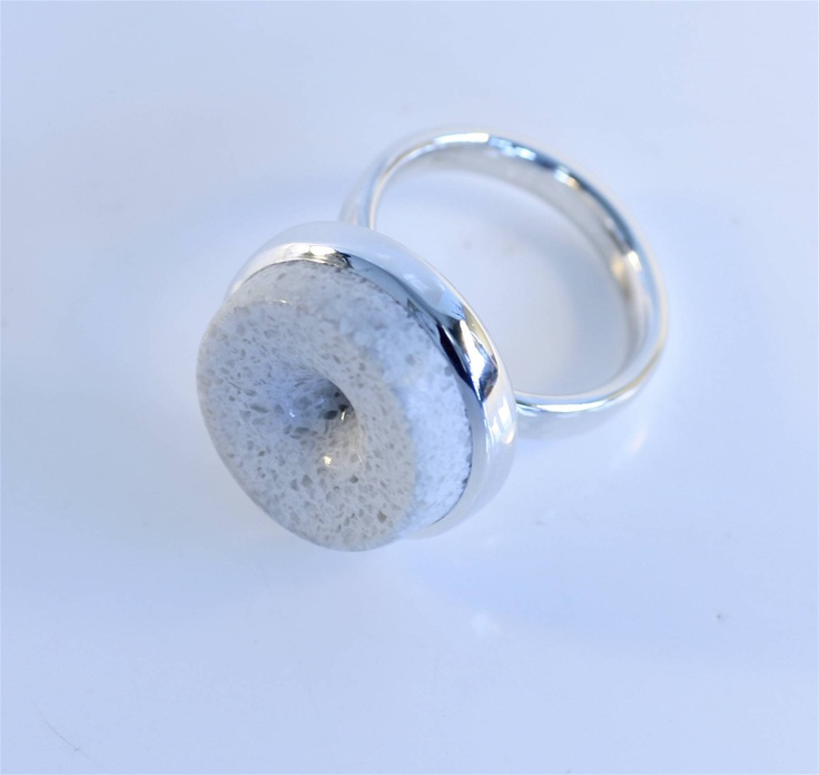 Corian & Sterling Silver 'Indent' Ring  www.jeremyleeming.com