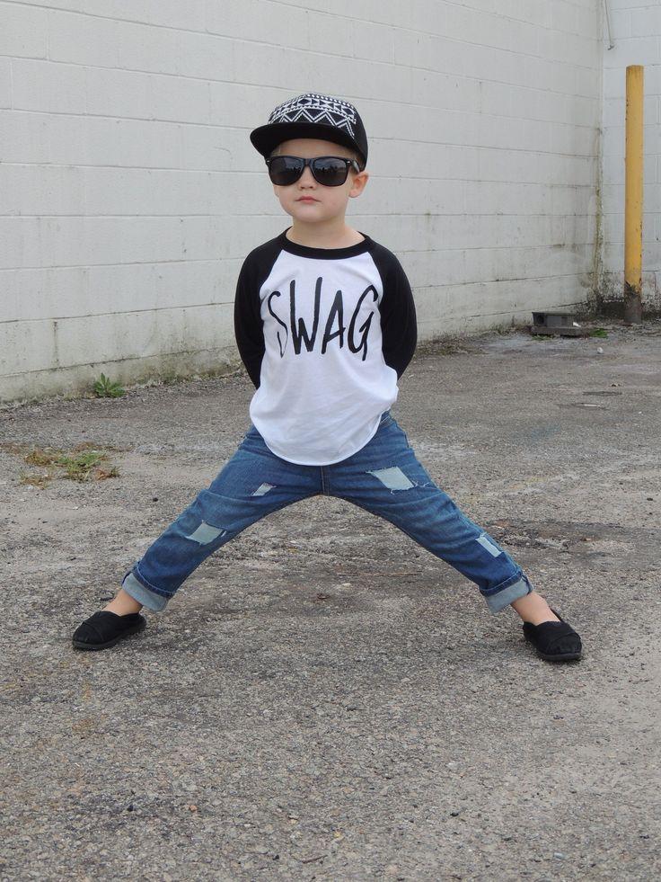 SWAG Raglan, Trendy kids shirt, Boys baseball style tee, o5l