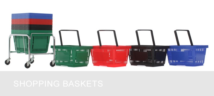 Experts in shop fitting & shop shelving | shelving4shops: Stacking Shopping Baskets Now in Stock!