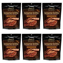 Chocolate Chip Brownie Brittle Snack 6 Pack 4 Oz Each
