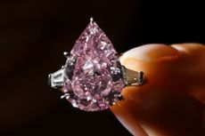 Peervormige diamant op veiling