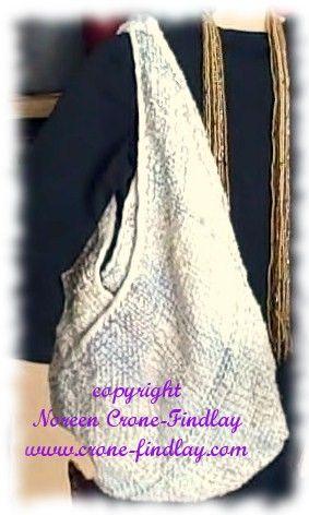 How to weave a boho or hobo bag on the triangle loom