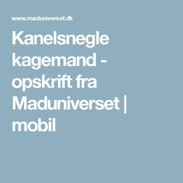 Kanelsnegle kagemand - opskrift fra Maduniverset | mobil