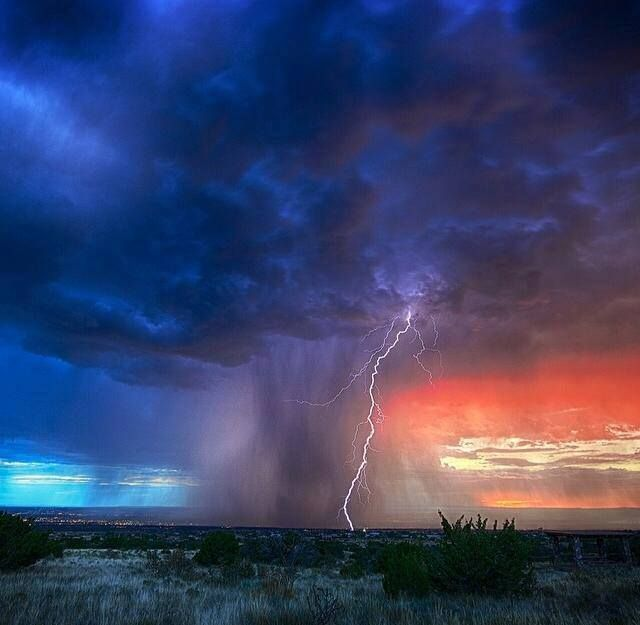 New Mexico storm with lightning, Aug2014 from Meanwhile in NM