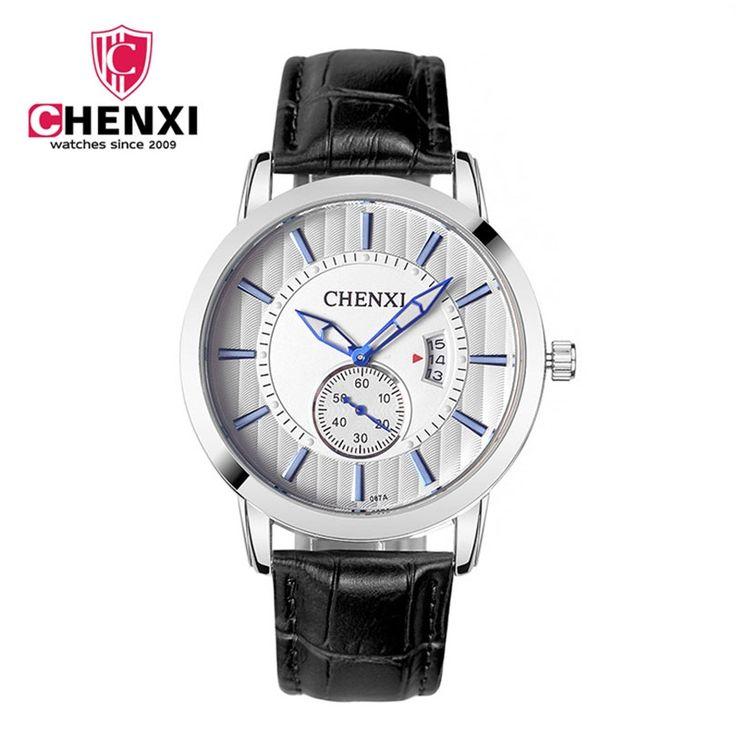 11.69$  Watch now - http://ali6fj.shopchina.info/1/go.php?t=32760363891 - CHENXI Men Dress Watches Men's Quartz Calendar Business Clock Charming Unique Leather Casual Wristwatch Waterproof Leather   #magazineonlinewebsite