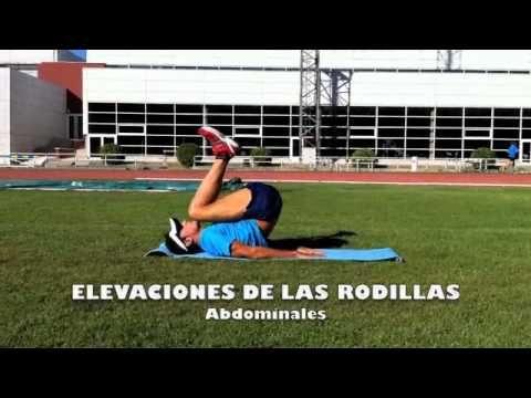 1.3 Personal Running - ABDOMINALES Elevaciones de las rodillas con las piernas flexionadas
