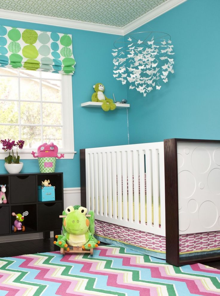 I love how it isn't overly pink, since I don't want a crazy pink room for a little girl.