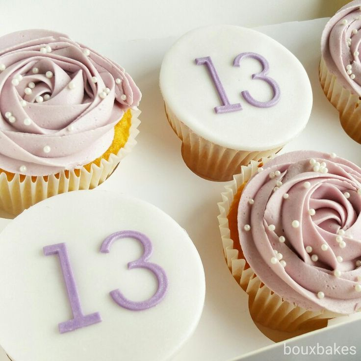 13th birthday cupcakes