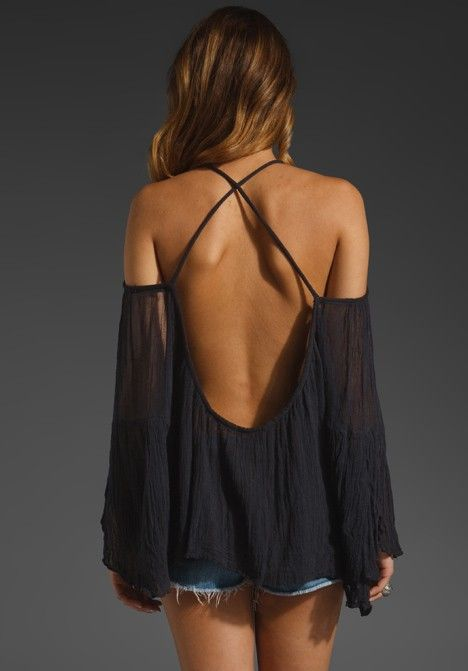 This would be a great way to refashion a flowy, too big top or dress.  Very sexy....would make a great beach cover up.