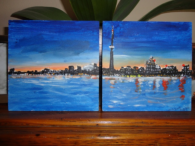 Toronto Skyline in acrylic