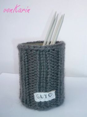 Strick-Dose / knitted tin can http://vonKarin.blog.de