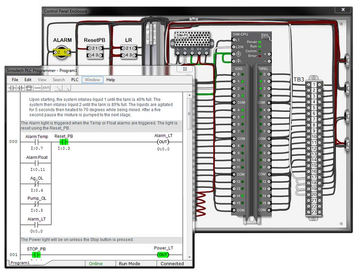 The newest PLC simulator software! PLC-programming-2.png This advanced industrial controls training is only for those who really know their stuff. If you find this advanced level PLC troubleshooting training too much for you to handle. Start  out with less advanced PLC training at BIN95.com (You could start with electrical troubleshooting skills series, then move on to TIC, then PLC troubleshooting, before doing this TIC2)