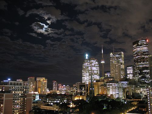 Toronto Canada at night.